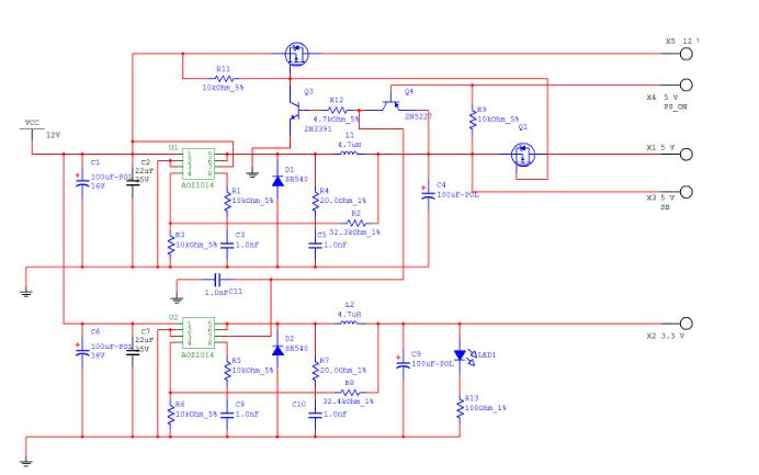 3.3V电源的原理图和PCB资料合集免费下载