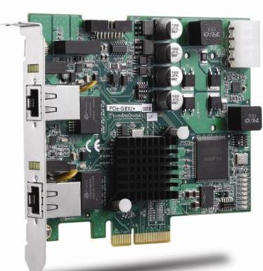 凌华科技推出了业界首款支持PoE接口的图像采集卡