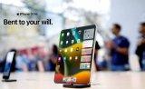 一组iPhone X Fold折叠屏手机概念图