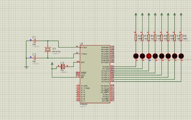使用51单片机控制的LED的流水灯C语言程序免费下载