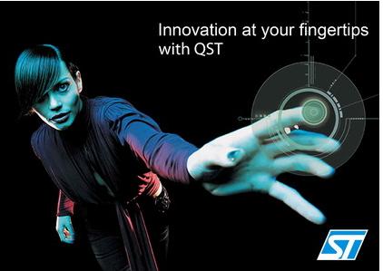 意法半导体推出了首款电容触控传感器系列产品