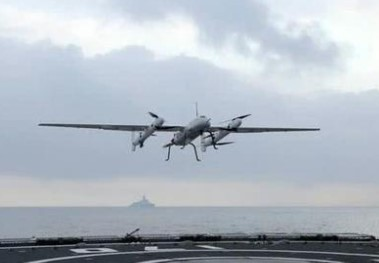 中国海军新型无人机采用独特的起降方式