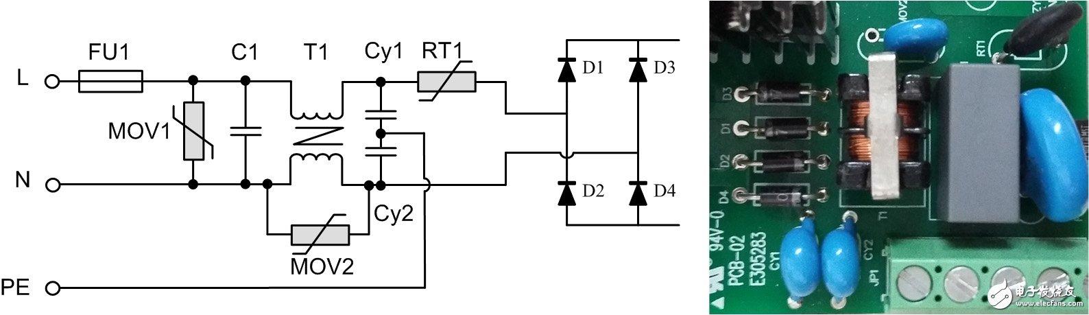 电源模块中的EMC前级原理及抗浪涌电路分析