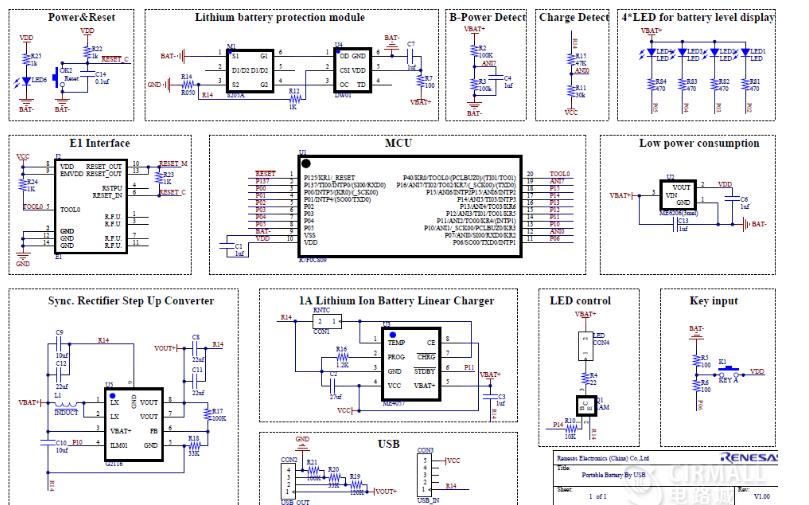 移动电源的电路原理图免费下载