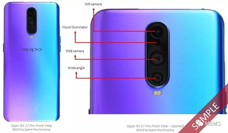 深入分析OPPO RX17 Pro智能手机中的索尼(Sony)IMX316和VCSEL-电子发烧友网