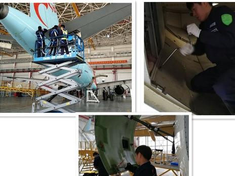 长龙航空正式举办了空客A320飞机的1C检工作