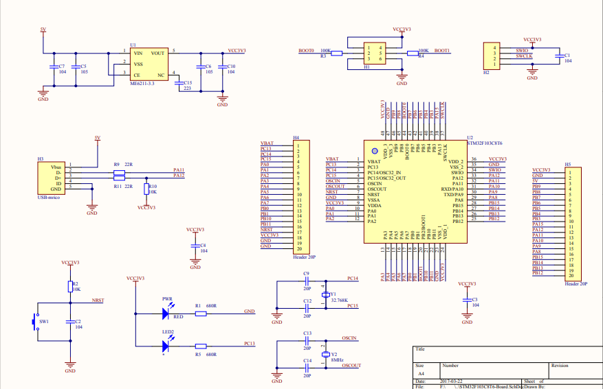 视频驱动器免费下载_STM32F103C8T6核心板的电路原理图免费下载-电子电路图,电子技术 ...