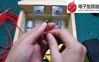 用两个775电机打造一台简易羽毛球自动发球机