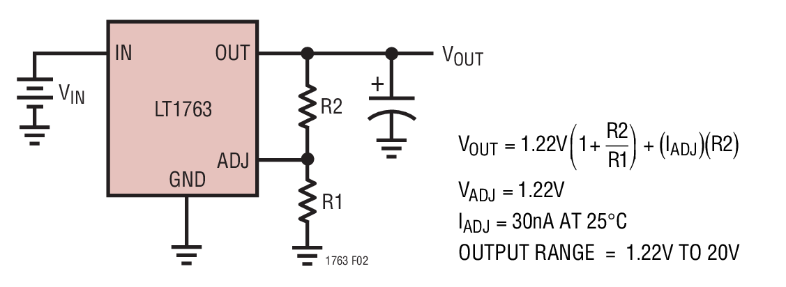 基于电压并联的线性稳压器的应用解决方案