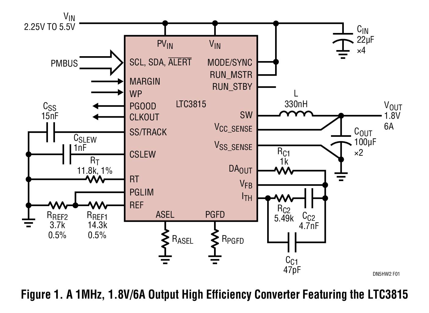 LTC3815单片式同步降压型转换器的性能应用解...