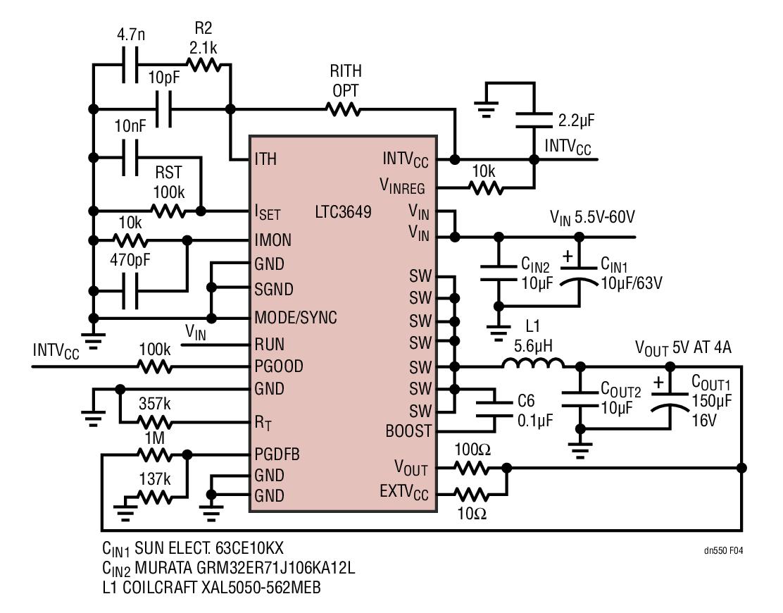 LTC3649降压型稳压器的性能及设计应用