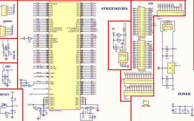 STM32F103VB开发板电路原理图免费下载