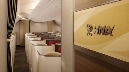 海南航空已完成了梦之羽787-9客机商务舱的内饰...