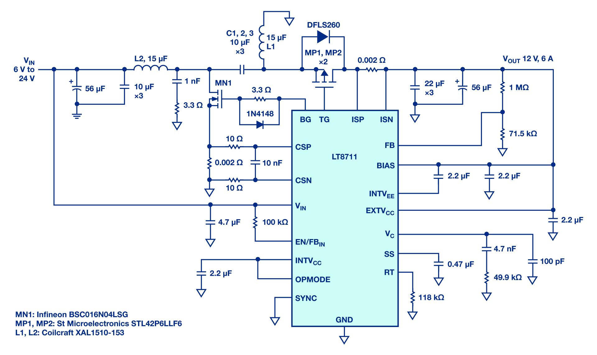 用于汽车和工业设备的LT8711控制器介绍
