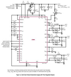 满足宽范围VIN汽车应用要求的LT8603多输出稳压器