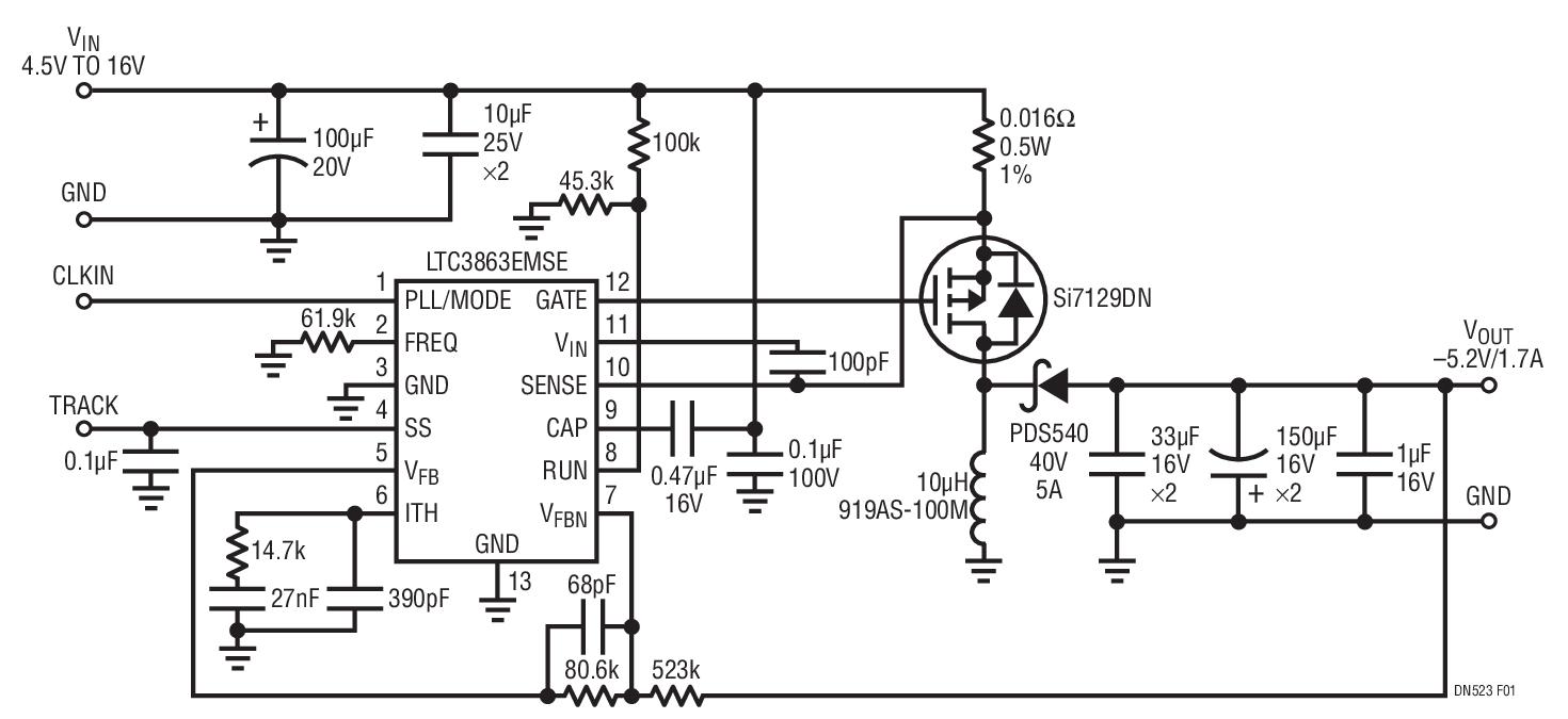 通过LTC3863反相DC/DC控制器简化电源设计