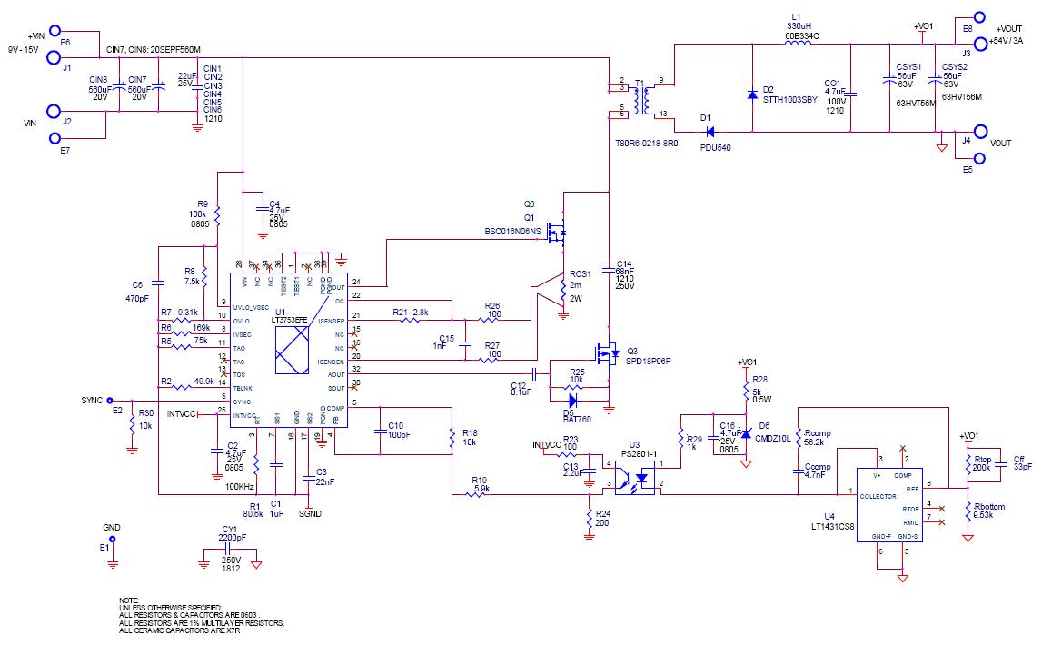 LT3753在异步闭环设计中的应用