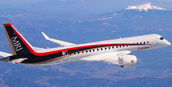 三菱飞机公司正在美国摩西湖进行MRJ客机的飞行测试