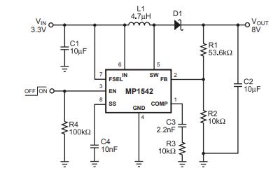 MP1542电流模式升压转换器的数据手册免费下载