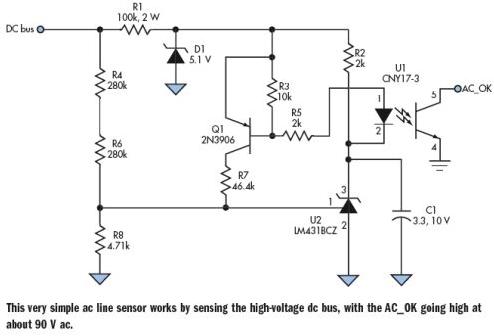 交流傳感器在電路感應高壓直流總線中的應用
