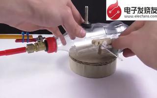 通废旧硬纸板和塑料瓶盖搭建mini坦克的制作过程