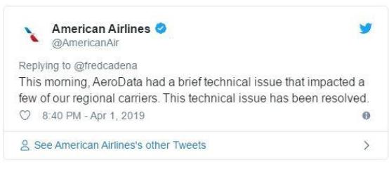美国航企正在努力解决4月1日延误的数百架次航班