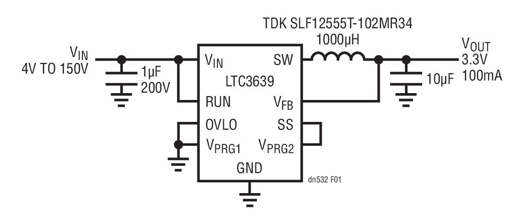 LTC3639同步降压型转换器实现高效的通用型电...