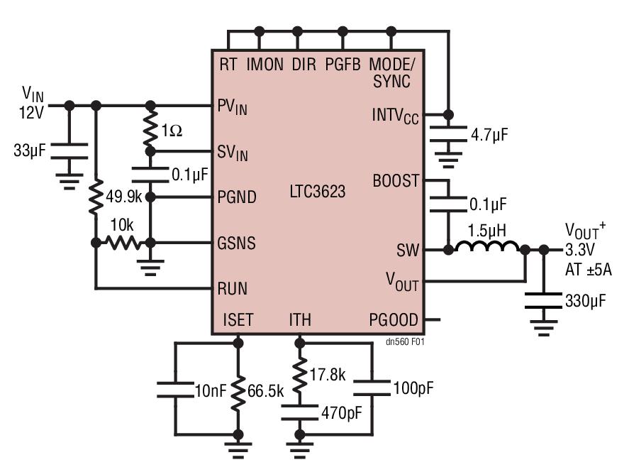LTC3623降压型稳压器的性能分析及多方面应用...