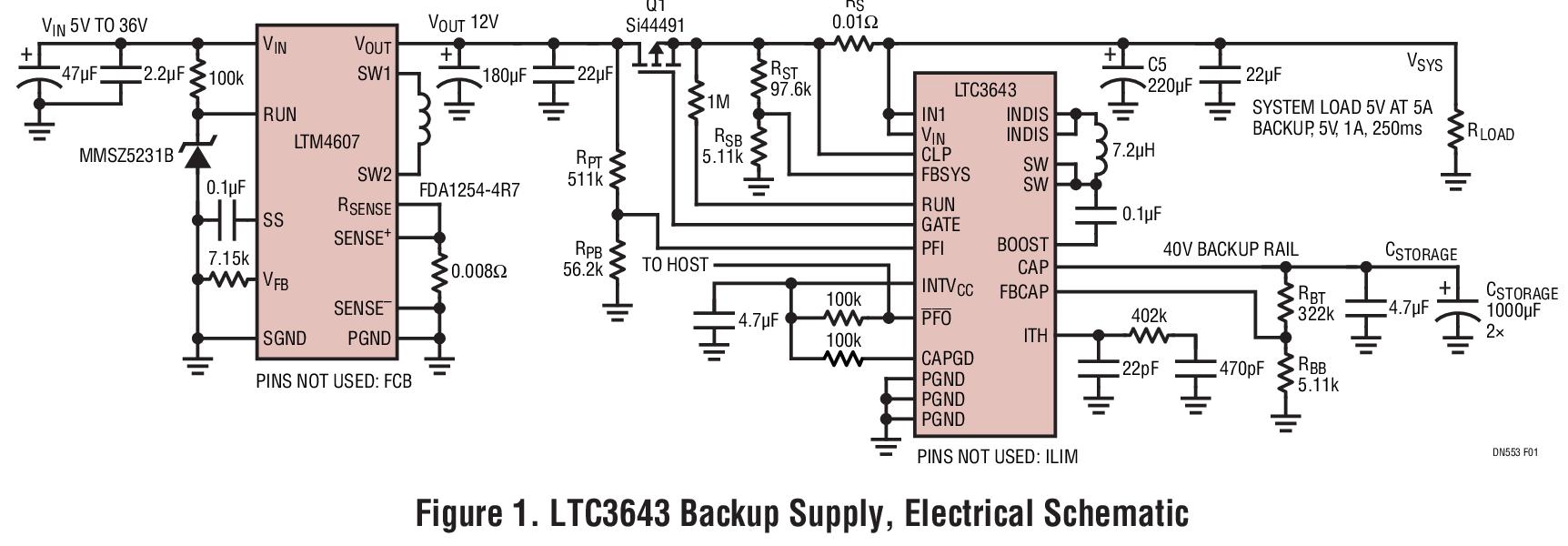 LTC3643稳压器实现汽车和工业应用中的数据备份