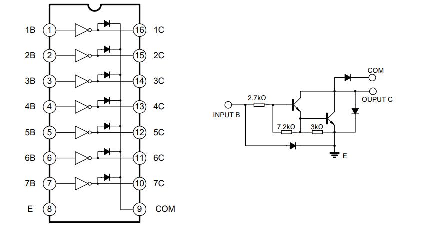 uln2003的达林顿晶体管阵列集成电路中文数据手册免费