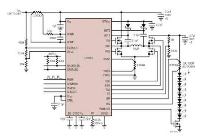 AS3824和AS3825 LED背光灯控制器启动流程图的详细资料说明