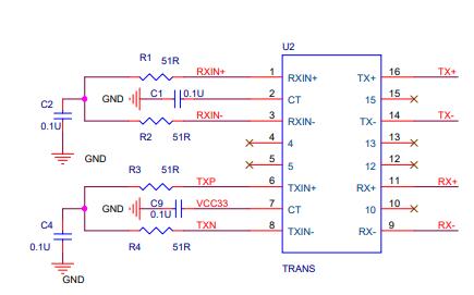 SR9900 USB 2.0网卡芯片的电路原理图免费下载
