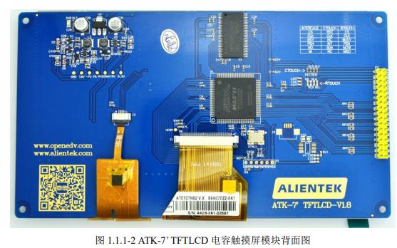 ATK-7 TFTLCD电容触摸屏模块使用说明资料免费下载