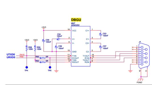 SAM4E单片机在UART异步串口通信协议中的应...