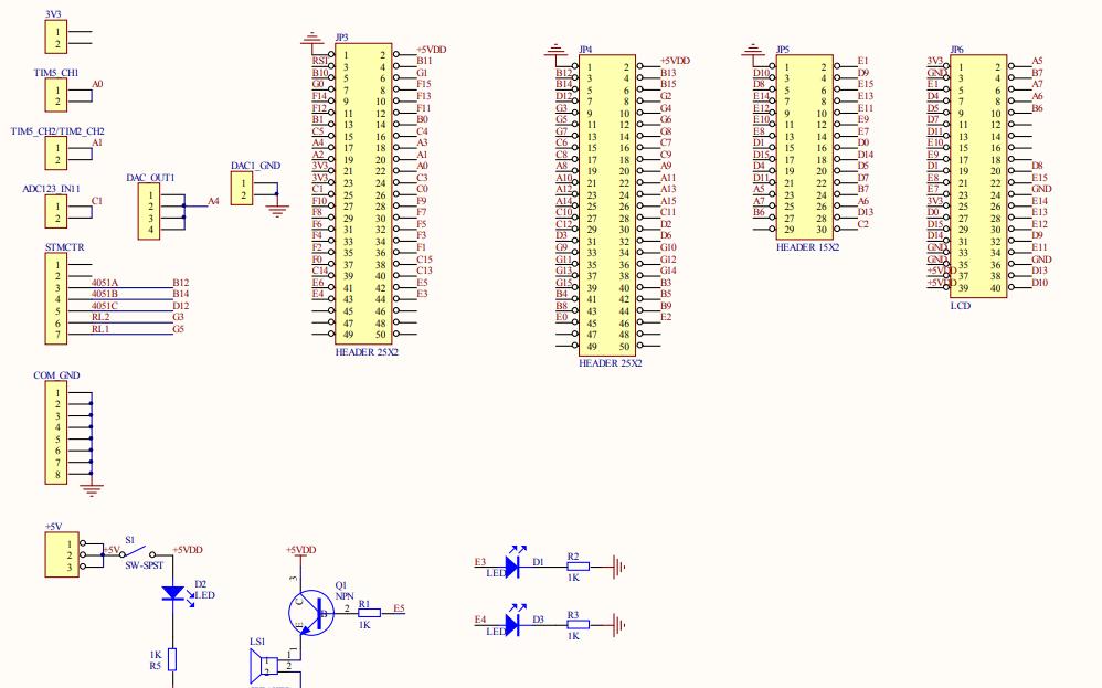 示波器上层板的电路原理图免费下载