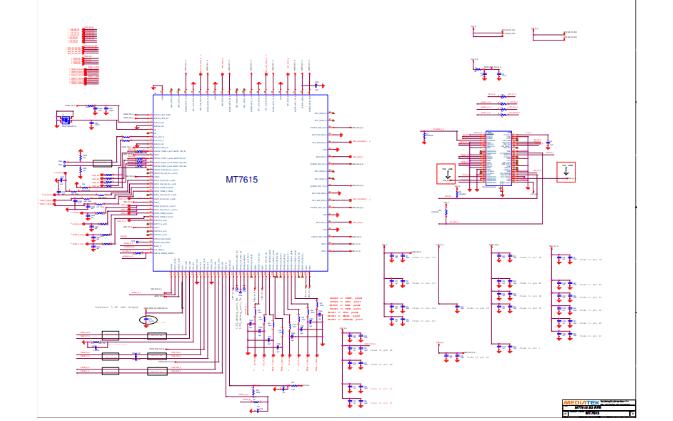 联发科MT7615 WiFi无线芯片的电路图合集免费下载