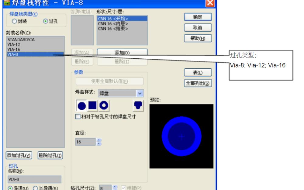 """PADS9.5如何添加更多的""""过孔""""详细资料说明"""