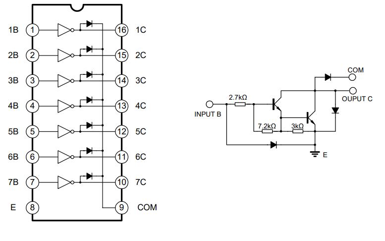 ULN2003的达林顿晶体管阵列集成电路中文数据手册免费下载