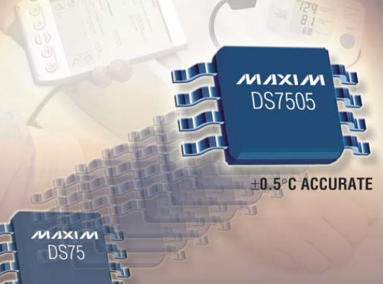 Maxim推出了带有非易失存储器的精度数字温度传感器和温度调节器