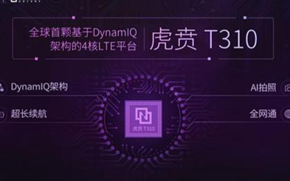 紫光展锐推出全球首款基于DYNAMIQ架构的4核LTE平台--虎贲T310