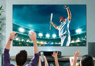 在大屏电视越来越受青睐的今天 激光电视的市场占有...