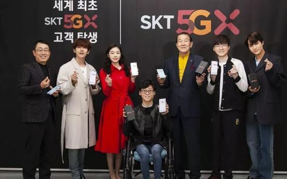 全球首批5G用户曝光,边伯贤、Faker、金妍儿...