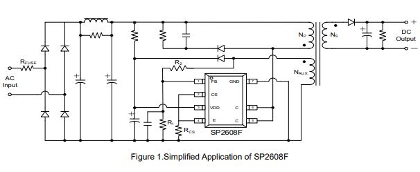 SP2608F高性能离线电源开关的数据手册免费下载