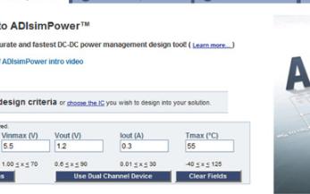 DC-DC转换器可由ADIsimPower提供强大,可定制的设计
