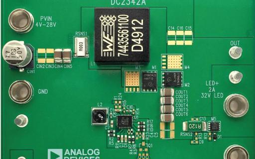 在低输入电压下,同步升压型转换器也能为大电流LED供电