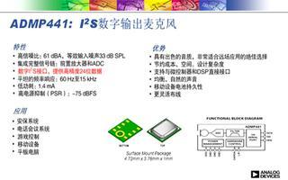 数字全向麦克风ADMP441性能特点及应用