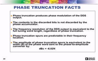 直接数字频率合成技术的频率研究