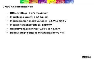 高速仪用放大器CN0273的特点及适用范围