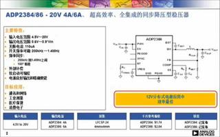ADP2386降壓DC-DC穩壓器的性能特點及應用