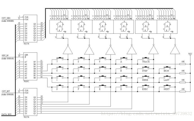 单片机与嵌入式系统实验教程之电子钟实验的资料包括程序和电路图
